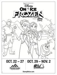 Disney On Ice Presents Frozen Win Tickets Coloring Sheet