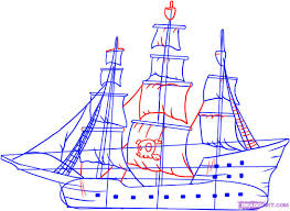 100 Design A Pirate Ship Drawing At PaintingValleycom Explore