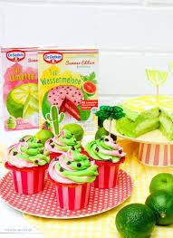 limetten törtchen wassermelonen cupcakes ein giveaway für