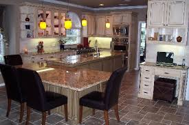 Kitchen Island Ideas Gorgeous Rectangular Table Marble Brown Top Seating For 4 Over