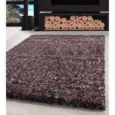 shaggy teppich hochwertig hochflor wohnzimmer rot grau creme meliert