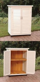 Outdoor Wood Storage Cabinets With Doors Lovely Outdoor Storage