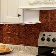 Copper Tiles For Backsplash by Decor U0026 Tips White Kitchen Cabinet With Top Knob And Copper