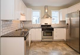 Kitchen White Kitchens With Stainless Steel Appliances Backsplash Basement Victorian Medium Exterior Contractors Cabinetry Home