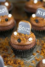 Spooky Tombstone Sayings For Halloween by Halloween Graveyard Brownie Cupcakes Jessica Gavin