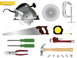 Carpentry Tools Vector Template Design Stock