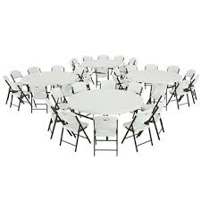 lifetime combo four 72 round commercial grade folding tables and