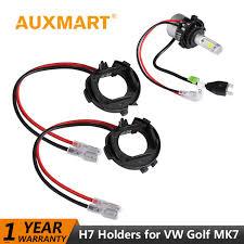 auxmart car headlight led h7 bulb adapter for vw golf mk 7