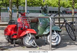 Classic Vespa Motorcycle Stock Photos