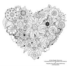 Free Coloring Pages From Adult Worldwide Art By Maggie Clemmons Book Love Mandalas And Patterns Happily Ever After Davlin