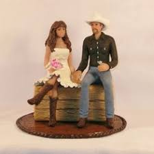 Princess And Cowboy Wedding Cake Toppers
