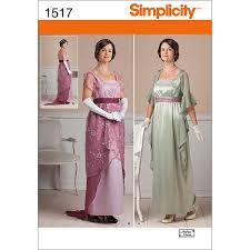Amazoncom Simplicity Creative Patterns 1517 Misses Edwardian