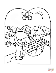 Click The Christmas Village Scene Coloring Pages To View Printable
