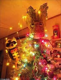 Christmas Guardians Groot Top And Rocket Left From The Of
