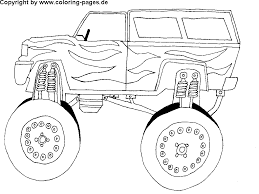 Free Car Coloring Pages Monster TRuck In