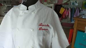 broderie veste de cuisine une veste de cuisine brodée atelier fil création