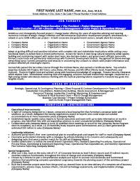 Government Resume Templates Samples Examples