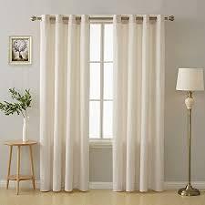 deconovo gardinen wohnzimmer vorhänge kinderzimmer vorhang ösen 175x140 cm creme 2er set
