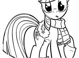 Twilight Sparkle Pony Coloring Page Pages Photographs My Little