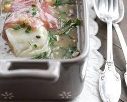 barde cuisine recette matelote de cabillaud bardé de pancetta