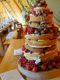 Naked Wedding Cake Madagascan Vanilla And Summer Berries
