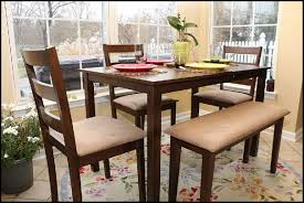 Great Amazon Dining Dinette Table Chairs Bench Set Walnut With Rv And For Sale