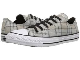 converse all plaid converse chuck all plaid ox black grey womens sneakers