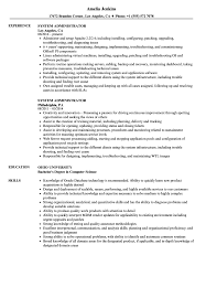 Download System Administrator Resume Sample As Image File