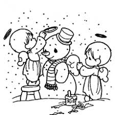 Angels Build A Snowman Elmo With Free Printable Sheet To Coloring