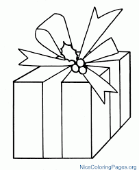 Christmas Gift Coloring Pages 8