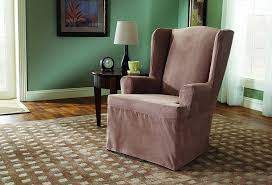 Stretch Suede Wing Chair Recliner Slipcover by Sofa 24 Wonderful 3 Seat Recliner Sofa Covers 10810835 Better