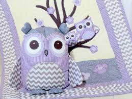 Organic Owl Quilt Baby Crib Bedding Kids Blanket Owl Pillow