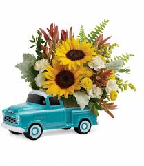 Chevy Truck Arrangement: Keepsake - Pugh's Flowers Local Florist ...