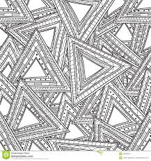Seamless Black White Pattern Triangles Coloring Pages Adults