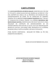Modelo Formato Carta Poder Venta De Bien Inmueble LaNuevaEconomía