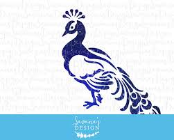 Peacock SVG Clipart Clip Art Peafowl Watercolor DXF Eps