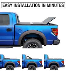 100 Track System For Truck Alloy Hard Top Trifold Tonneau Cover For 20092014 D F150 Excl