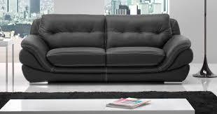 canapé cuir noir mexico salon 3 2 cuir personnalisable sur univers du cuir