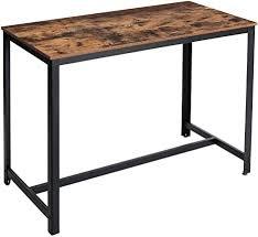 ymyny bartisch industriedesign küchentisch für 4 personen bistrotisch stehtisch esstisch einfache montage für bars wohnzimmer esszimmer