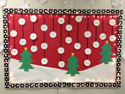 Kindergarten Christmas Door Decorating Ideas by Christmas Bulletin Board W Trees U0026 Snow Classroom Decor Bulletin