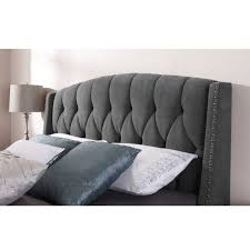tufted wingback headboard board dorel living queen chrome shocking