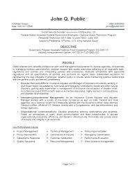 Sample Federal Government Resumes Job Resume Example Jobs Examples