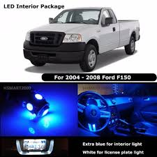 7pcs Extra Blue Interior LED Bulbs 2004 - 2008 Ford F150 F-150 White ... 1956 Ford Custom Truck Interior Franks Hot Rods Upholstery 7pcs Extra Blue Led Bulbs 2004 2008 F150 White 2009 2014 Front Lights F150ledscom Semi 6 Watt Universal Dome Light For Car Suv Lil Ray Raises Bar On Interior Truck Design With Pride Polish 4 In 1 Inside Atmosphere Lamp 48 Led Decoration The Cabin Lights Ats 15x Mod American Simulator Strip Neon Motobike Safety Lvo Fh16 2012 Blue Dashboard Lights 122x Euro 8 Pcs Rock Kits For Exterior Under Off Road Set Auto Decor Lighting Floor
