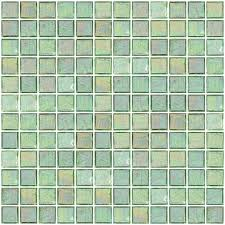 1 inch clear green iridescent glass tile clear glass tile colored