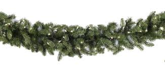 Lighted Christmas Garland Douglas Fir Prelit Throughout With Lights