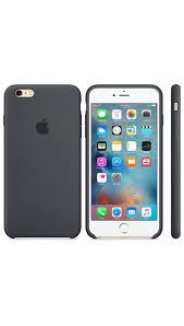 de silicona para el iPhone 6 Plus 6s Plus Gris carb³n