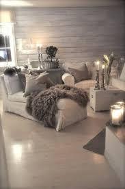 graue gestaltung vom wohnzimmer viele kerzen rustic