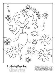 Free Custom Coloring Pages Char Will Love This Mermaid Picture With Her Name 3