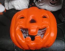 Vintage Halloween Blow Molds Craigslist by Pumpkin Blow Mold Etsy