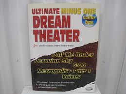 Dream Theater Ultimate Minus One CD Guitar Trax Sheet Music Song Book Tab